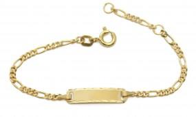 bezauberndes Baby Figaroarmband vergoldet mit Gravur für Babys