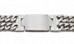 super breites Herrenarmband aus Edelstahl mit doppelter Panzerkette
