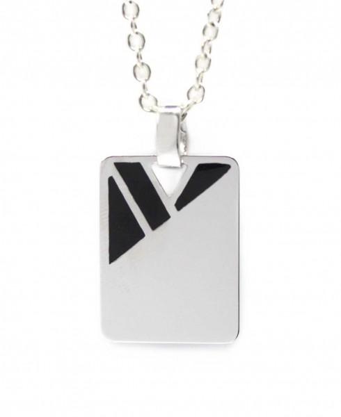 Herrenanhänger 925er Silber mit Lackeinlage MyOwnName