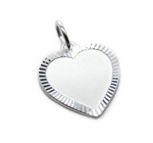 Herz mit diamantiertem Rand und Gravur MyOwnName