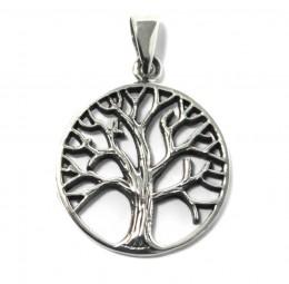 Lebensbaum Anhänger Kette aus 925er Silber