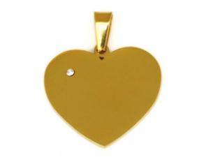 Herzanhänger Gartisgravur goldfarbig