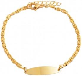 ovales Gravurarmband Edelstahl goldfarben