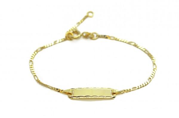 Babyarmband mit Wunschgravur aus 33er Gelbgold MyOwnName