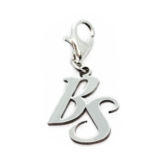 deine initialen als Charmanhänger am Armband Silber MyOwnName