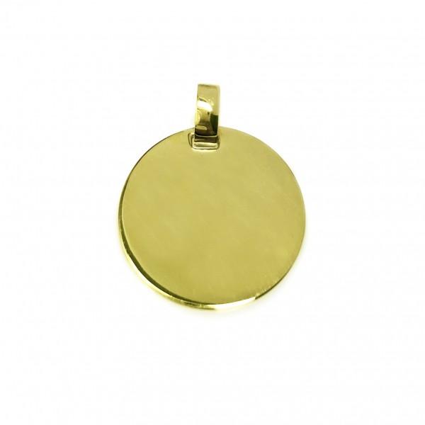 vergoldeter Kettenanhänger rund 925er Silber MyOwnName