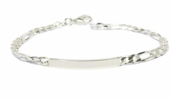 Gravurarmband Figarokette 925er Silber