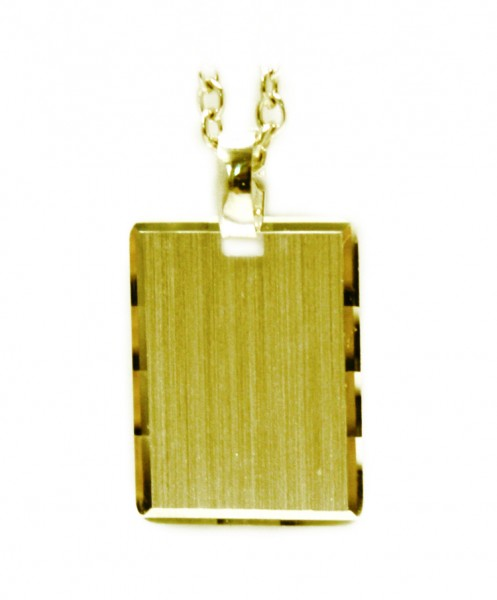 vergoldeter Gravuranhänger aus 925er Sterling Silber Rechteck MyOwnName