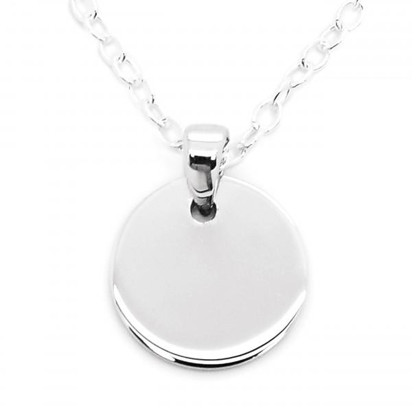 Halskette mit rundem Gravuranhänger 925er Silber MyOwnName