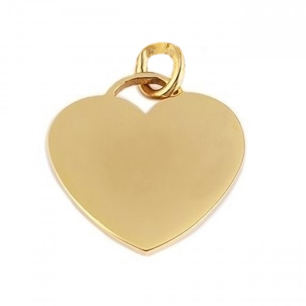 goldener Herzanhänger Tiffany Style Edelstahl MyOwnName