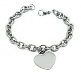 Damenarmband mit Herzanhänger ~ gratis Gravur