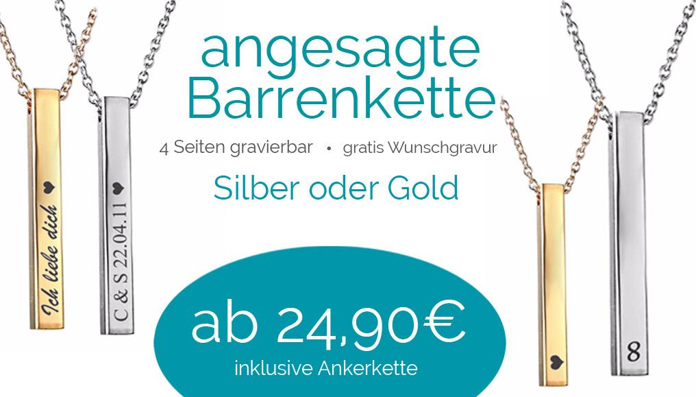 Edelstahl Partneranhänger Herz mit Halskette 4-teilig mit Wunsch-Gravur