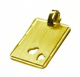❤ Kettenanhänger ❤ für Damen und Herren aus 925er Silber vergoldet ❤ Kette mit Gravur ❤