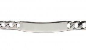 Panzerarmband mit Gravur aus 925er Silber