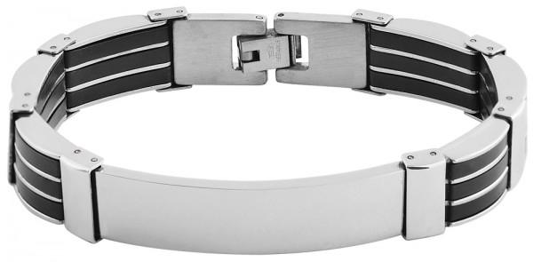 Armband Stahl Kautschuk