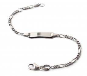 Baby Figaroarmband mit Namen aus 925er Silber
