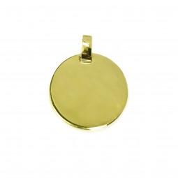 goldener runder Kettenanhänger ~ Kette mit Gravur