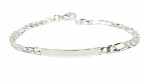 elegantes Gravurarmband für Damen und Herren 925er Silber