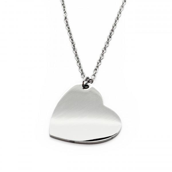 Halskette Herz Wunschgravur Damen MyOwnName