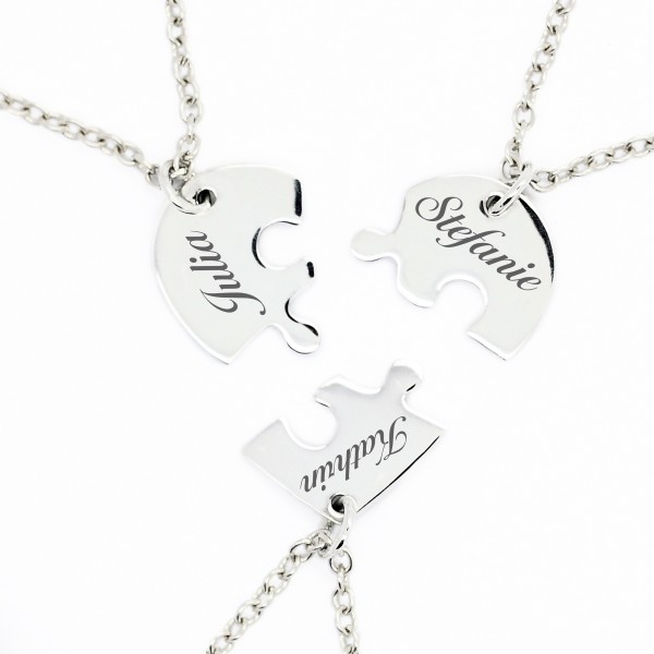 Puzzle Herz Anhänger 925er Silber MyOwnName
