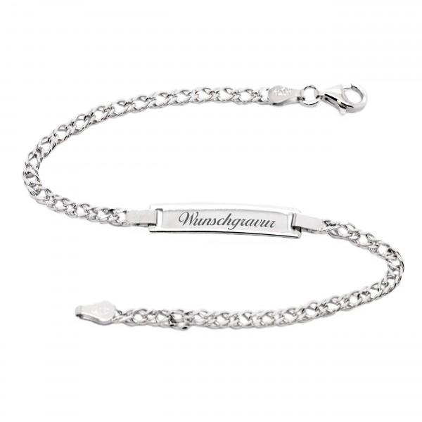 Damenarmband aus 925er Sterling Silber mit gratis Gravur MyOwnName