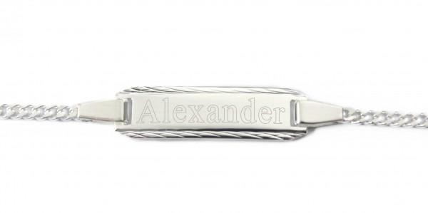 Baby Armband mit Namen graviert Silber MyOwnName