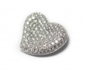 Damenanhänger funkelndes Herz aus 925er Silber
