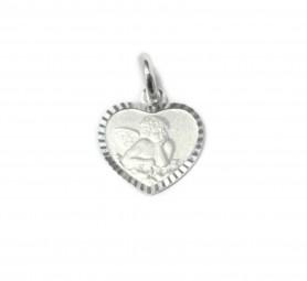 Anhänger Herz Schutzengel aus 925er Silber ~ Kinderkette