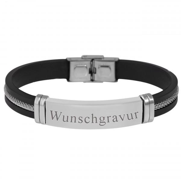 Herrenarmband Gravuramrband Edelstahl gratis Wunschgravur MyOwnName