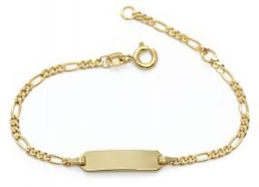zartes Kinderarmband mit Wunschnamen aus vergoldetem 925er Stelring Silber