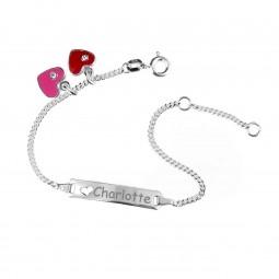 Kinderarmband Damenarmband ❤ heart ❤ mit gratis Gravur aus 925er Silber