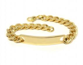 stilvolles Damenarmband Unisex aus Edelstahl in Gold mit Gravur